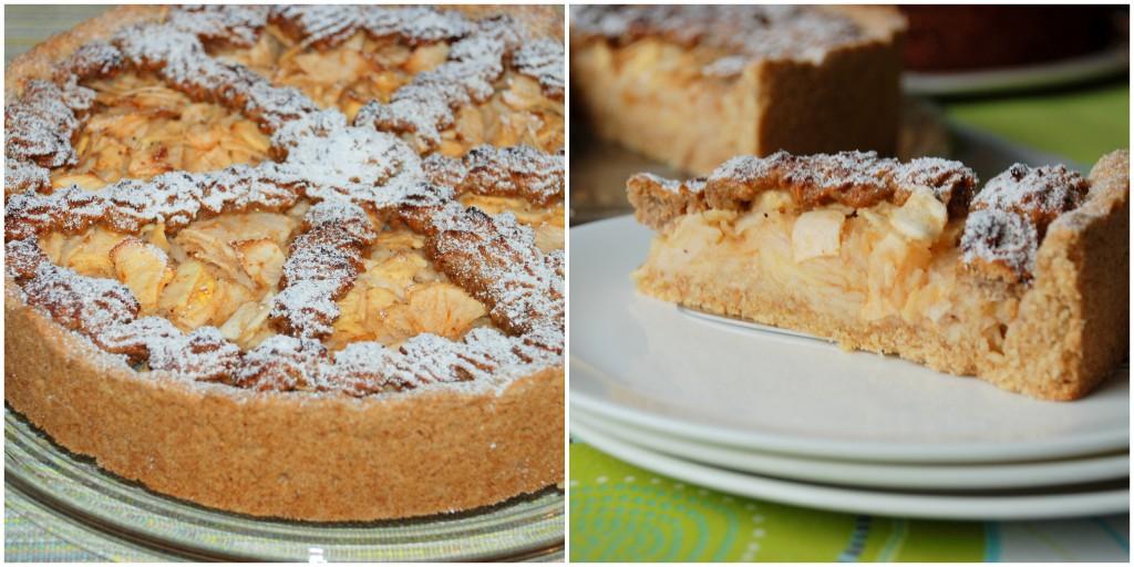 Apfelkuchen mit Rosinen-Nuss-Gitter1