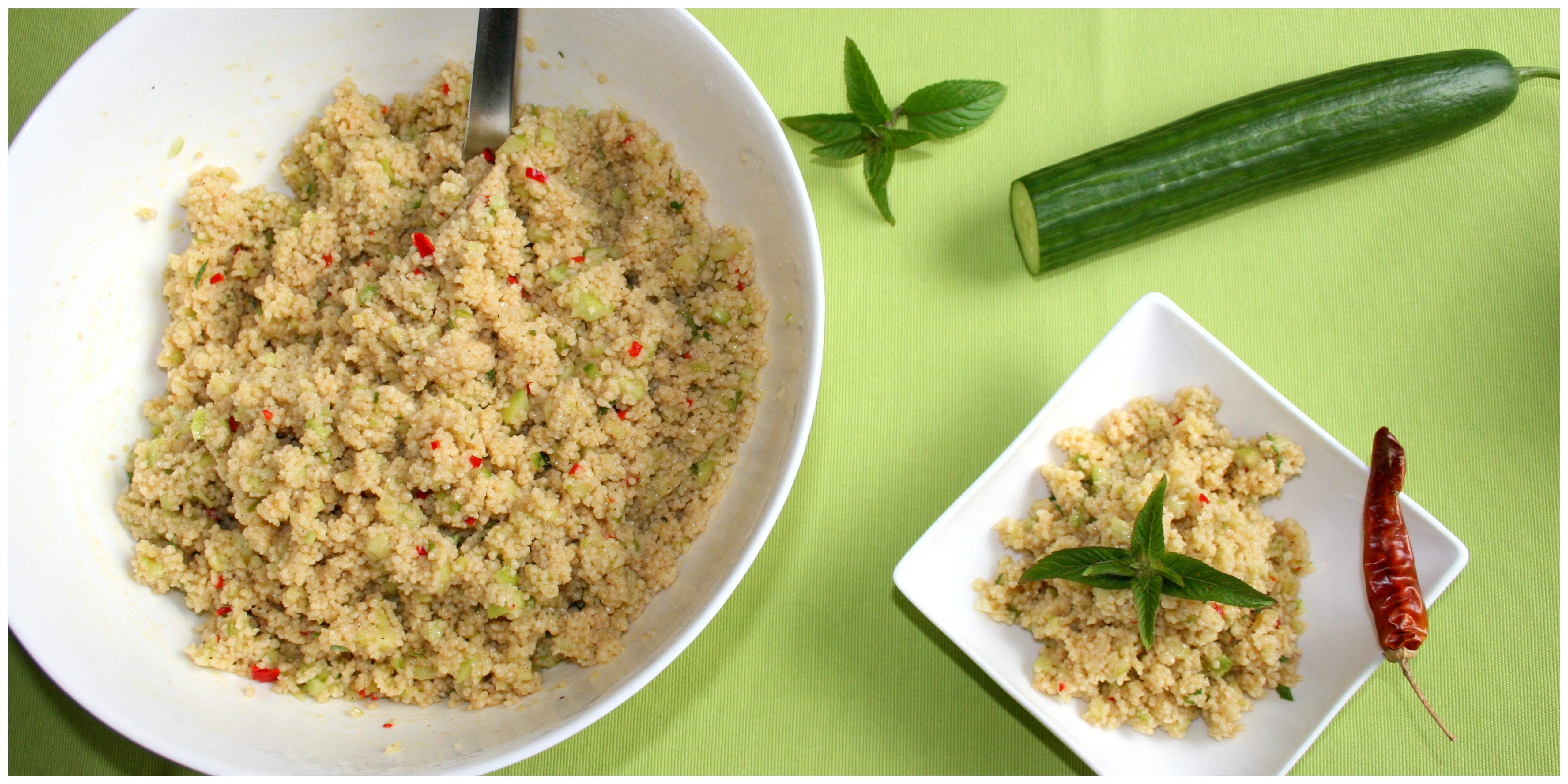 Zum k ssen gut gr ner couscous salat mit gurke minze for Kochen mit biolek