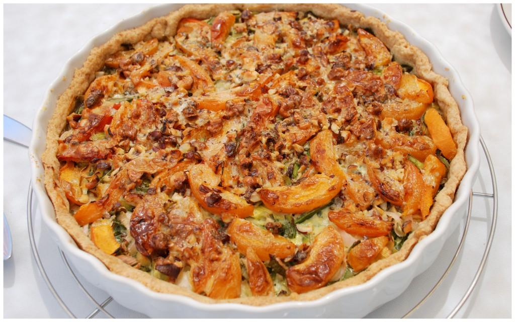 Quiche mit Lauch, Blauschimmelkäse und Aprikosen (2)