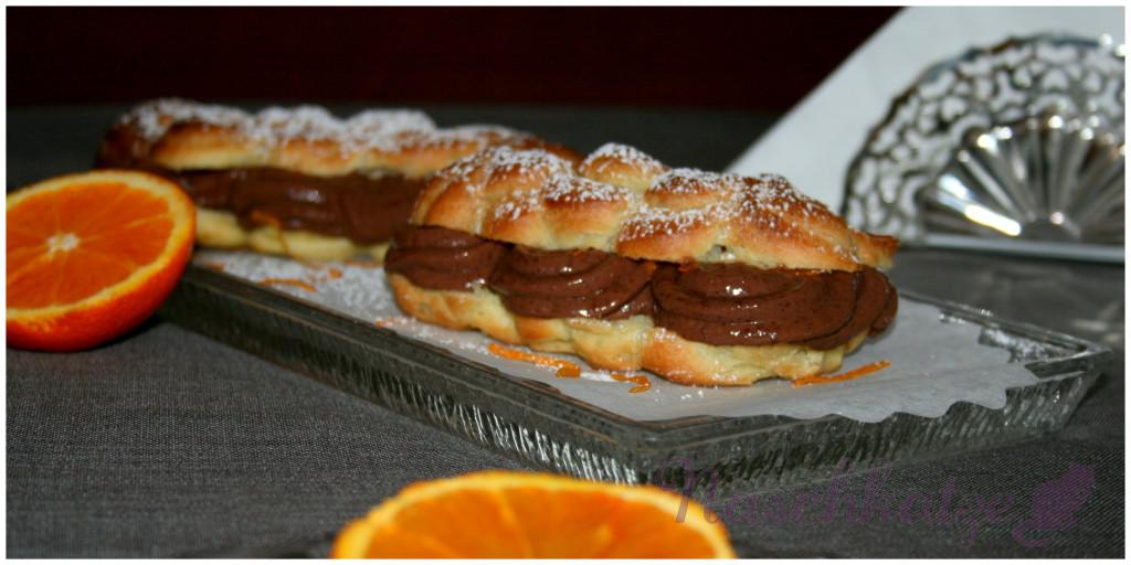 Eclairs mit Orange- Schokocreme- Füllung2