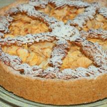 Apfelkuchen mit Rosinen-Nuss-Gitter
