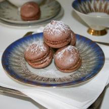 Macarons mit Kakao und Kaffeecreme