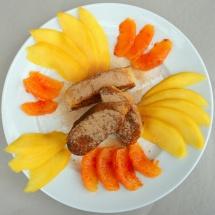 Rostige Lokführer mit Mango & Orange