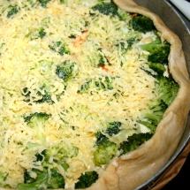 Broccoli-Quiche mit schnellem Quark-Öl-Teig