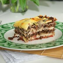 Lasagne mit Belugalinsen und Zucchini