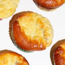 Zitronige Mini- Käsekuchenmuffins