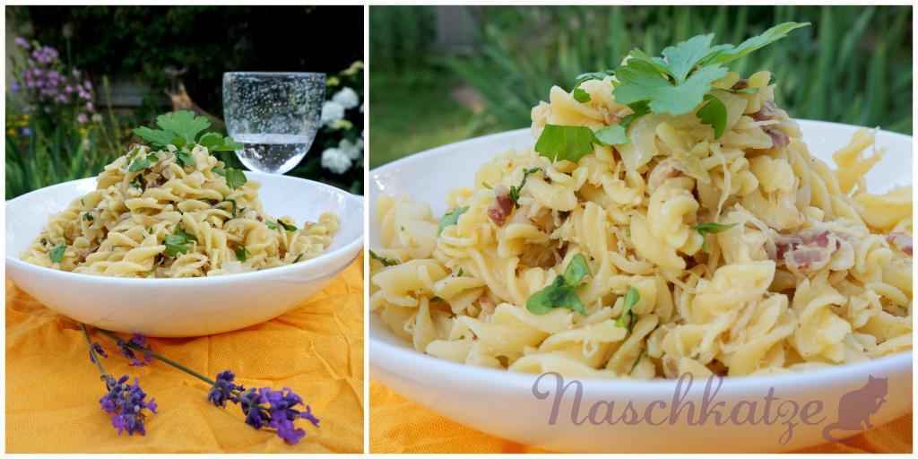 Pasta mit Sauerkraut-Speck-Rahmsauce1