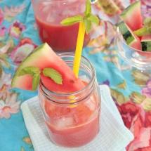 Wassermelonen- Drink mit Minze & Ingwer