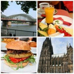 Köln II- Café Franck, Dom, Rheinuferm Bunte Burger