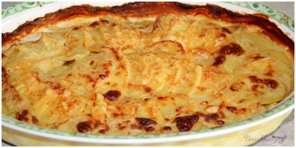 Kartoffelgratin mit Senf und Meerrettich