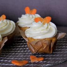 Karottencupcakes mit Frischkäsefrosting