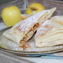 Mini-Apfelstrudel mit Vanillesauce_vegan