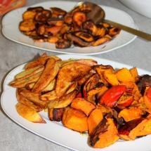 Ofengemüse_Kürbis, Süßkartoffel & Kartoffel