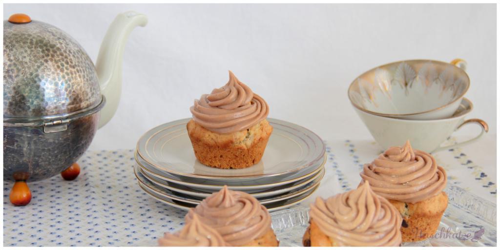 Bananen-Nougat- Cupcakes (1)