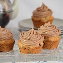 Bananen-Nougat-Cupcakes