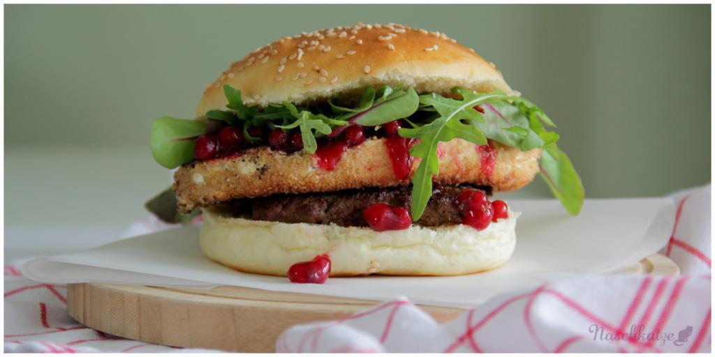 Burger mit Camembert1