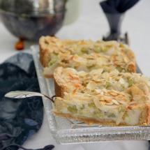 Rhabarberkuchen mit Guss und Mandeln_vegan