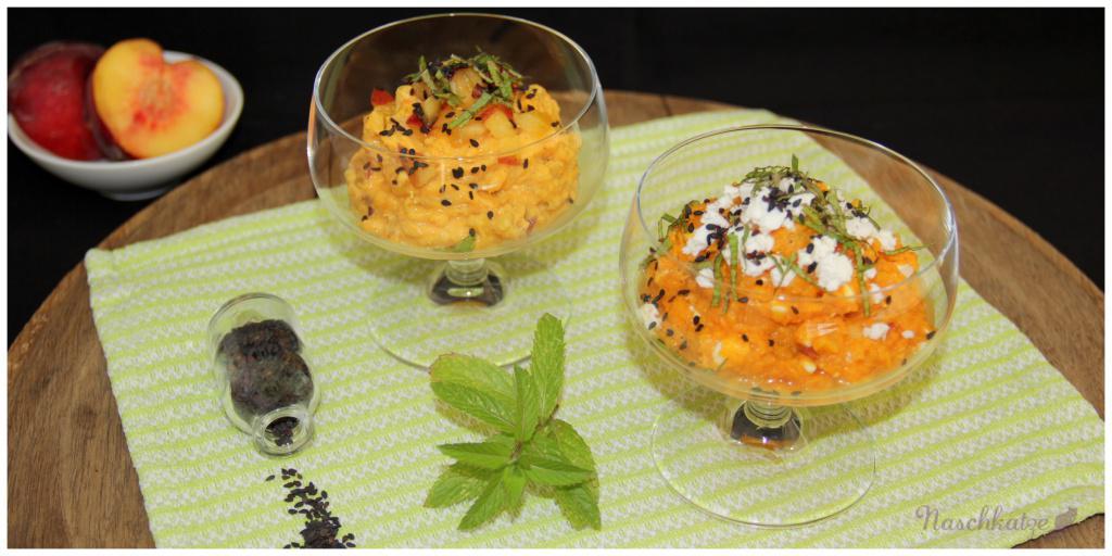 Aufstrich Süßkartoffel, Pfirsich, Feta (3)