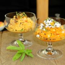 Aufstrich Süßkartoffel, Pfirsich, Feta