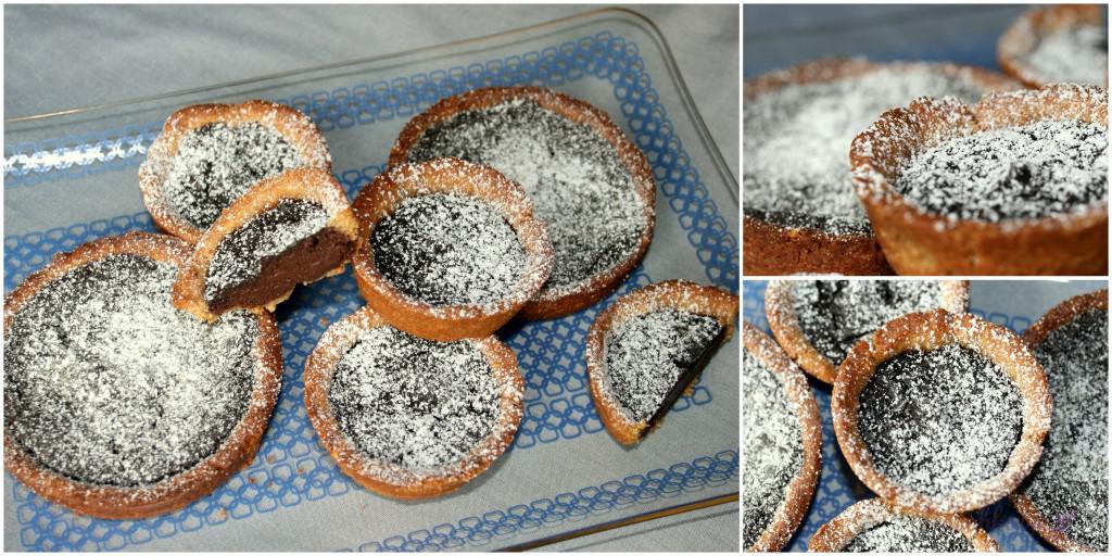 Schoko-Tartelettes mit Vollkorn-Mascobado-Mürbteig (2)
