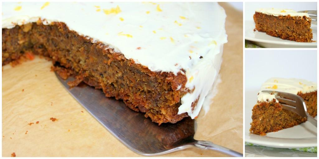 Karotten- Nuss- Kuchen mit Zitronenfrischkäse1