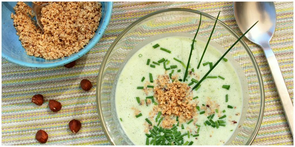 kalte Buttermilch- Kräuter- Suppe mit Nussgremolata1