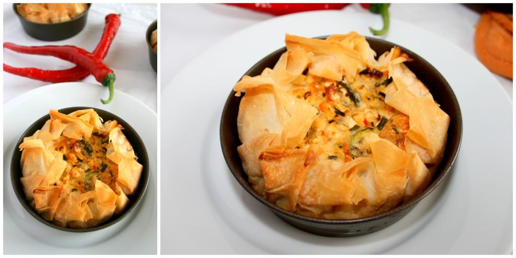 Filoteig-Törtchen mit Zucchini-Schafskäse-Füllung (1)
