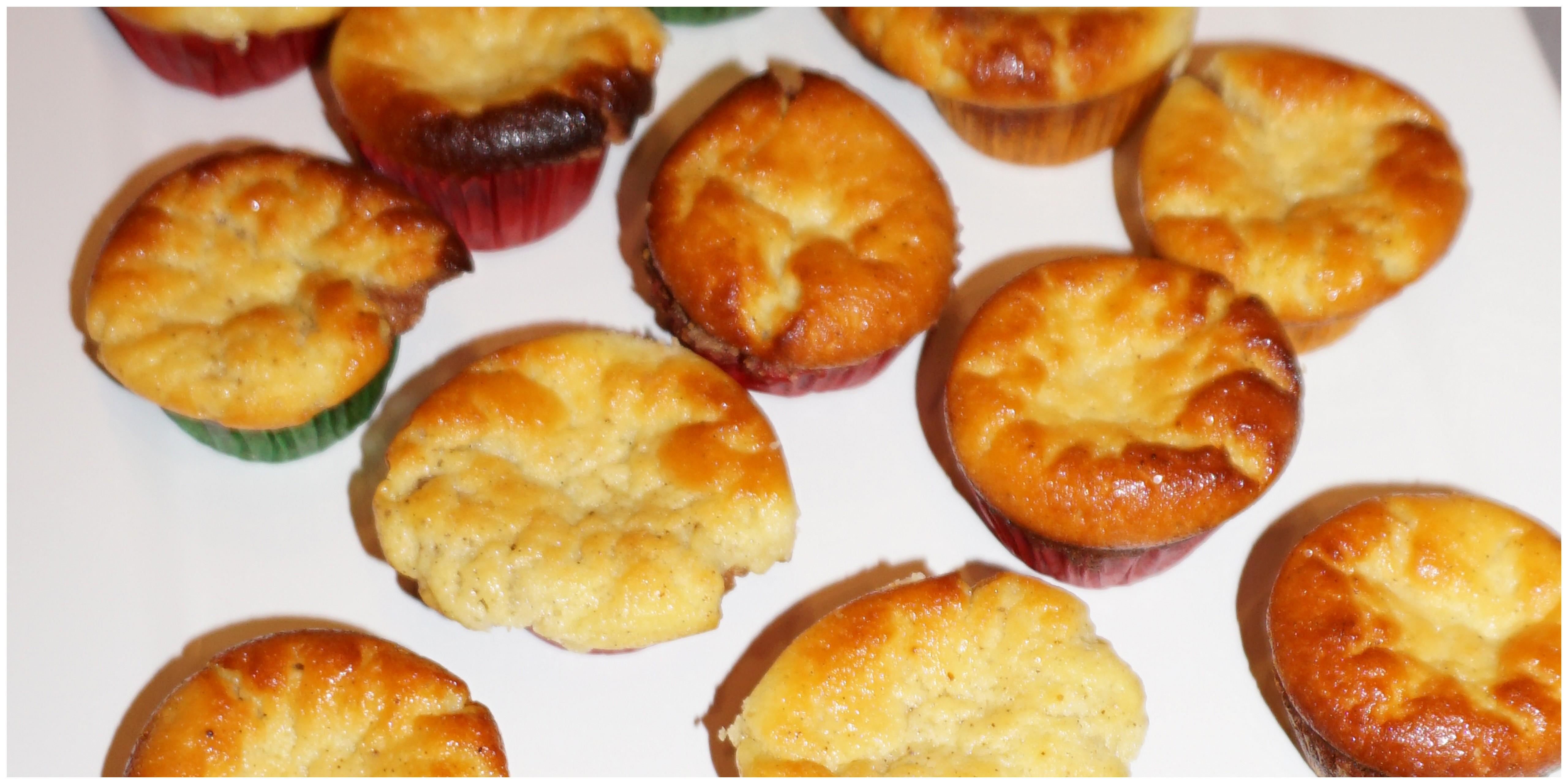 Zitronige Mini Kasekuchen Muffins Naschkatze