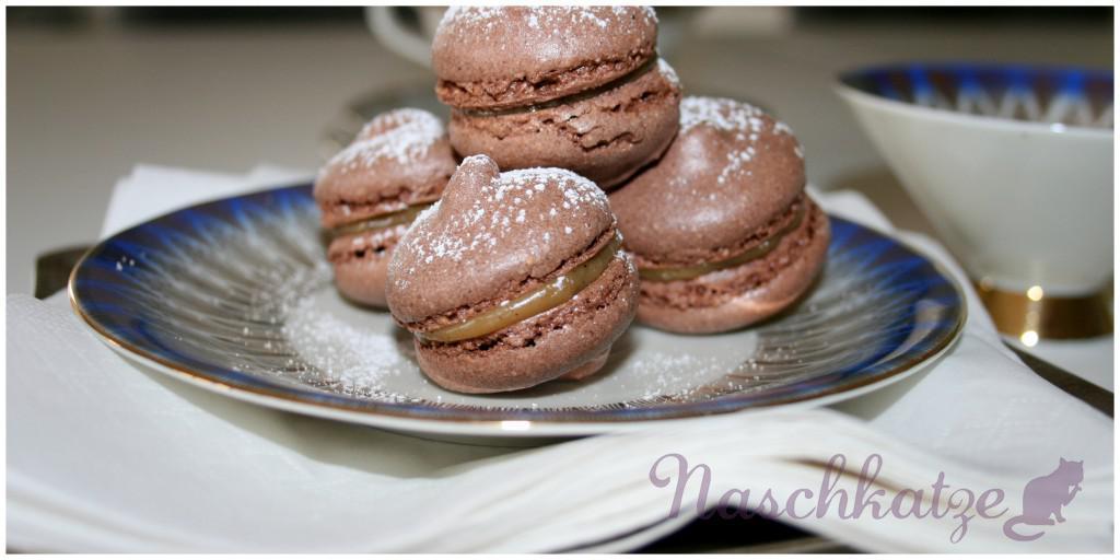Macarons mit Kakao und Kaffeecreme- Füllung1
