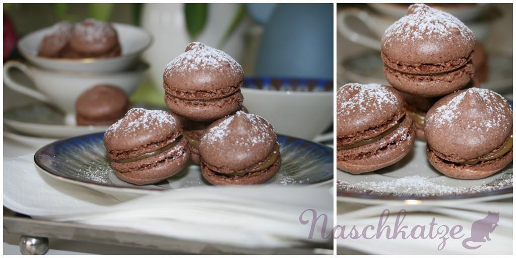 Macarons mit Kakao und Kaffeecreme- Füllung3