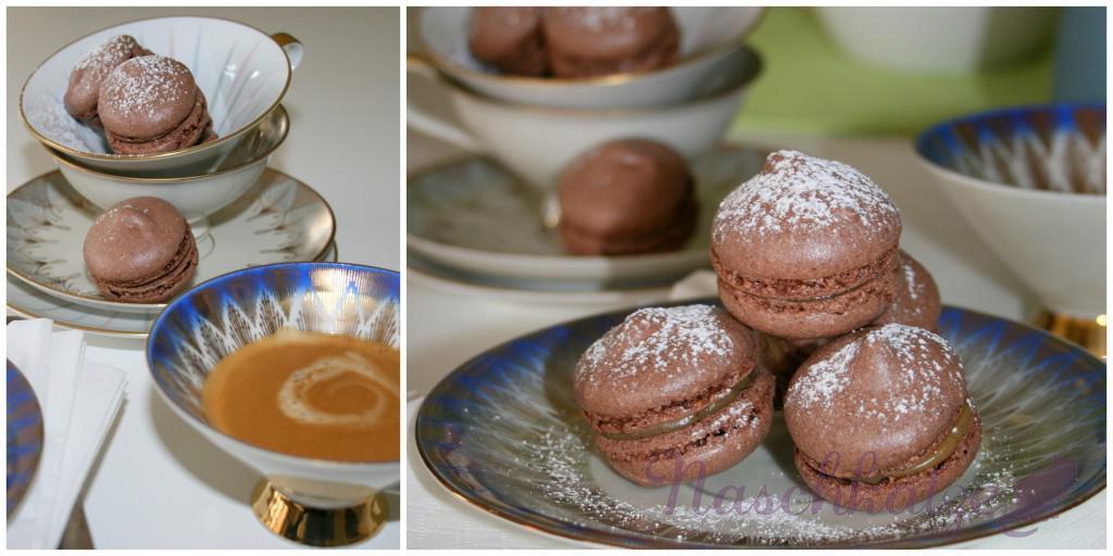 Macarons mit Kakao und Kaffeecreme- Füllung4