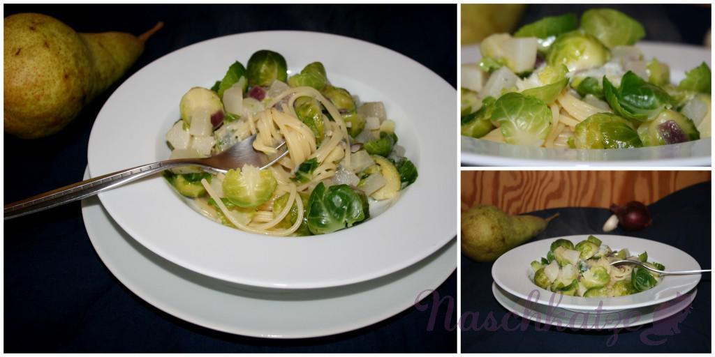 Rosenkohl-Birnen-Pasta mit Gorgonzola3