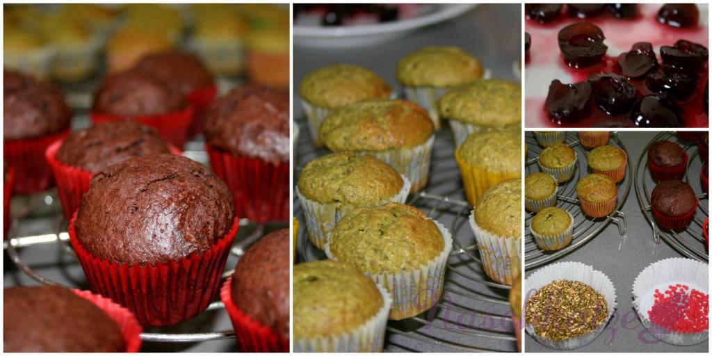 Cupcakes mit Matcha & Schoko- Amarena und Vanilletopping1