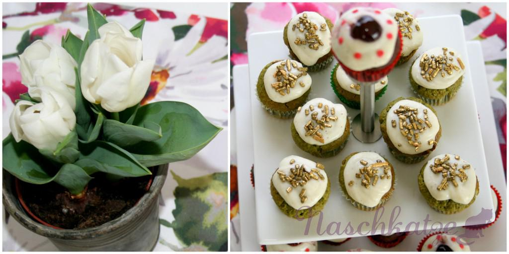 Cupcakes mit Matcha & Schoko- Amarena und Vanilletopping2
