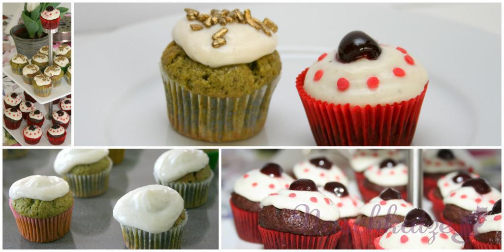 Cupcakes mit Matcha & Schoko- Amarena und Vanilletopping3