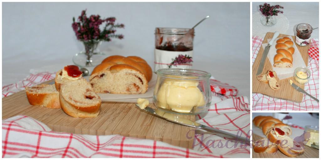 Hefezopf mit Marmelade1