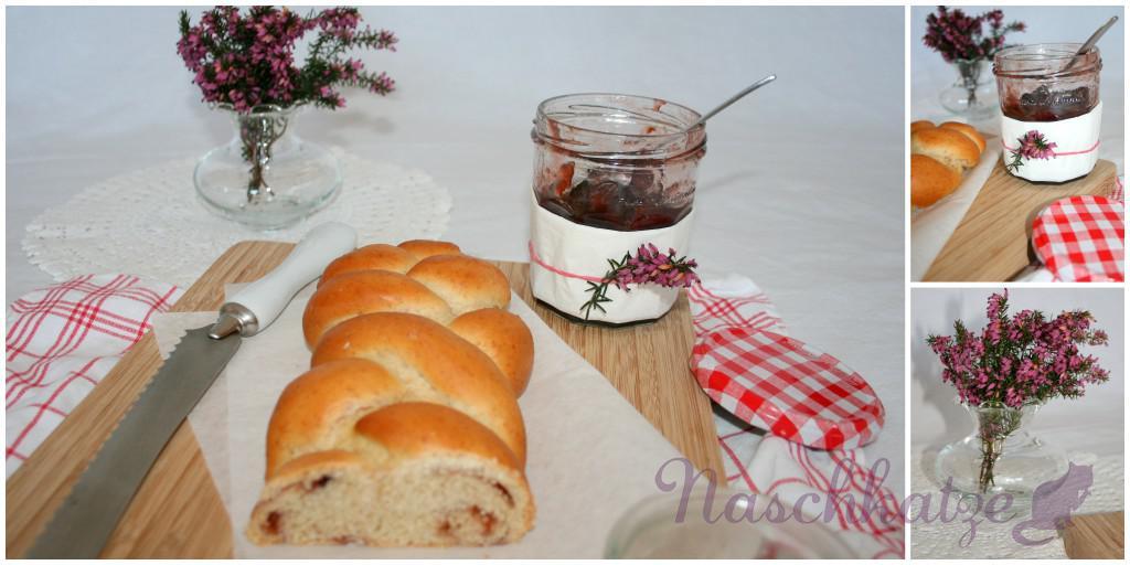 Hefezopf mit Marmelade2