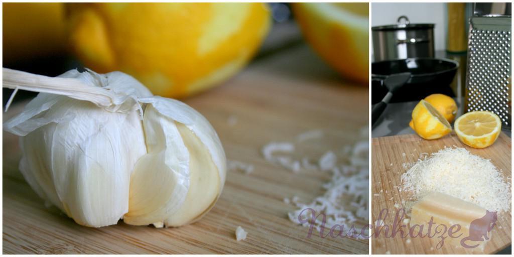 Parmesan- Spaghetti in Zitronen-Knoblauch-Chili-Öl1