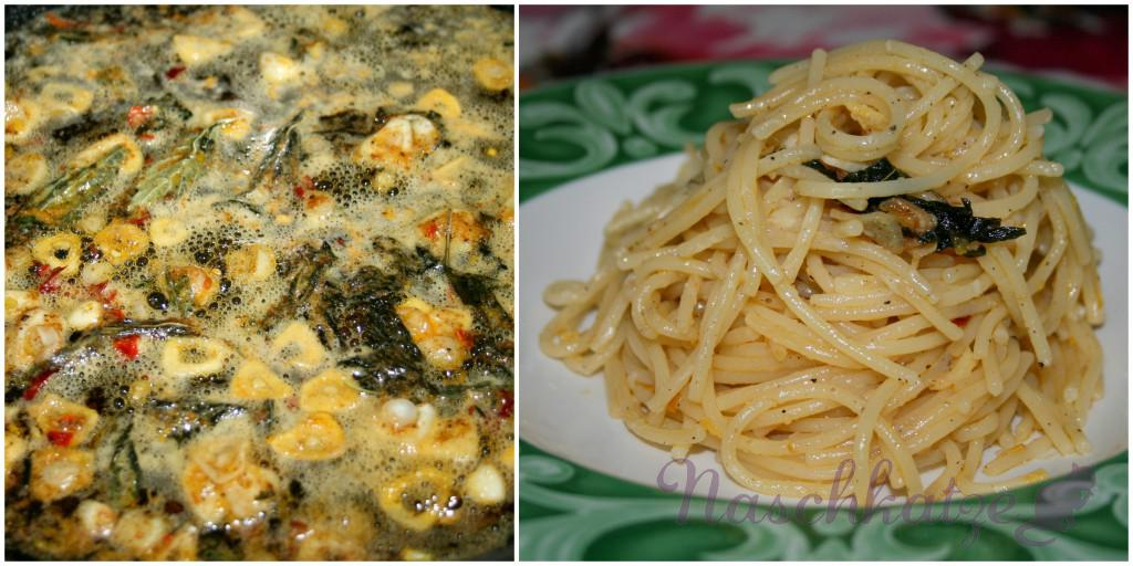 Parmesan- Spaghetti in Zitronen-Knoblauch-Chili-Öl2