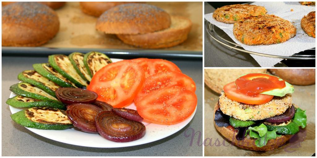 Veganer Tofuburger mit veganem Brötchen1