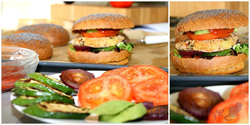 Veganer Tofuburger mit veganem Brötchen3
