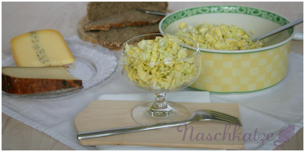 Chinakohl-Salat mit Schmand-Zitronen-Kreuzkümmel-Dressing