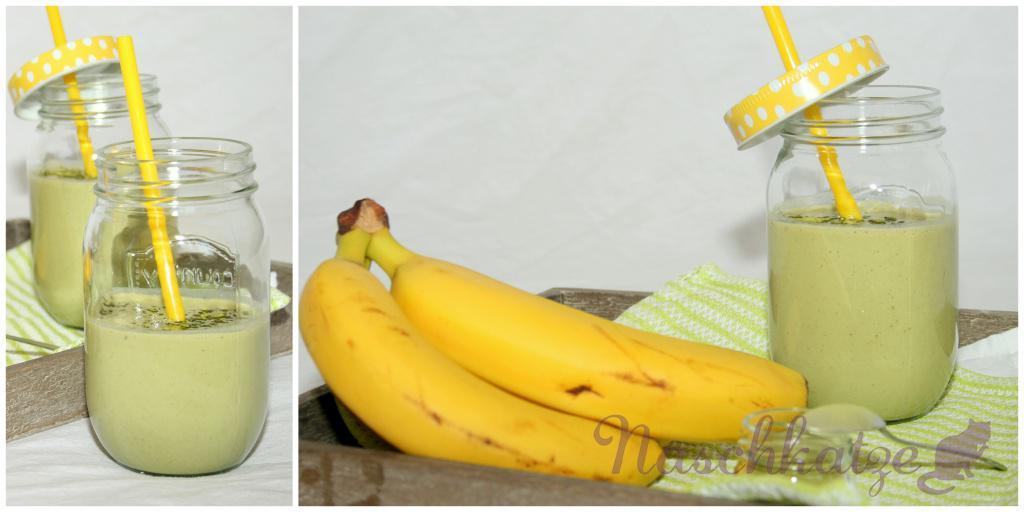 Matcha-Bananen-Kefir mit Zimt2