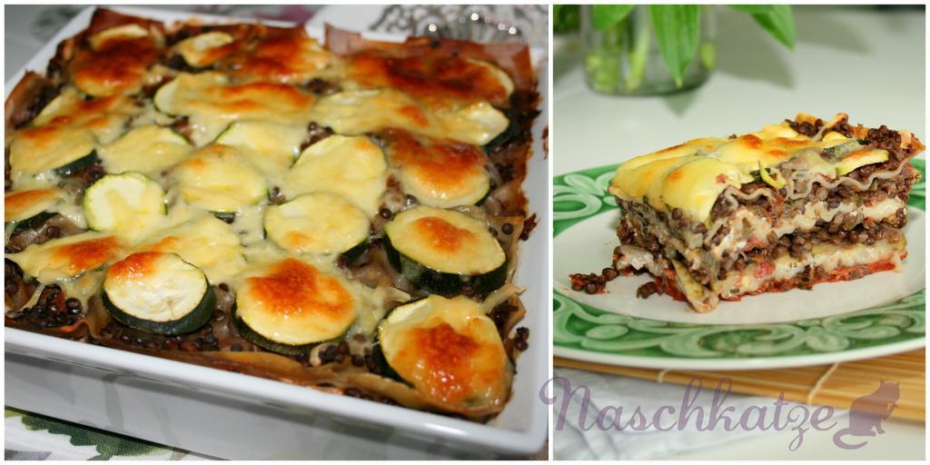 Lasagne mit Belugalinsen, Zucchini und Ricotta3