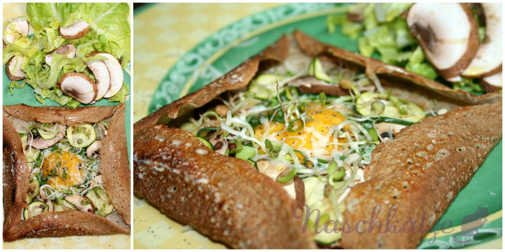 Galettes mit Käse, Ei, Gemüse & Sprossen (3)