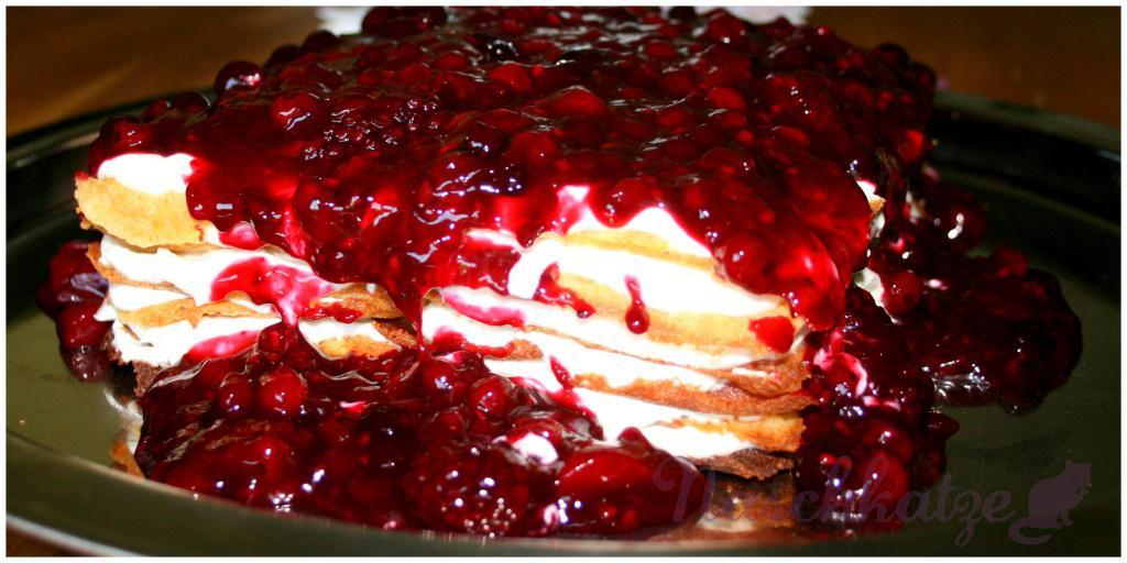 Waffel-Beeren-Torte