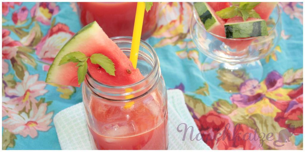 Wassermelonen- Drink mit Minze und Ingwer