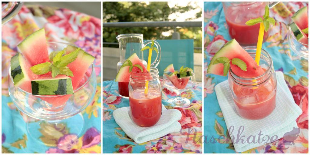 Wassermelonen- Drink mit Minze und Ingwer1