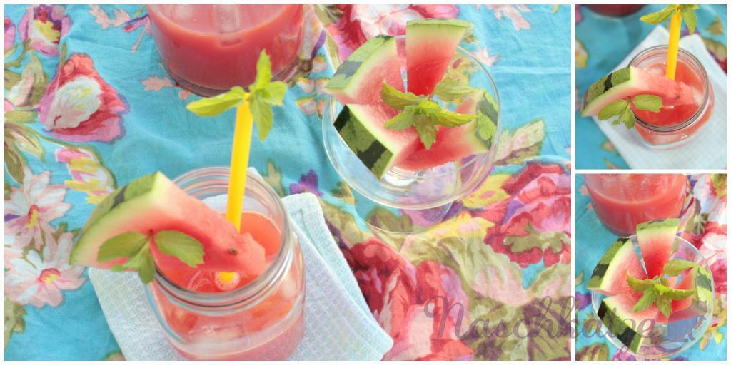 Wassermelonen- Drink mit Minze und Ingwer2