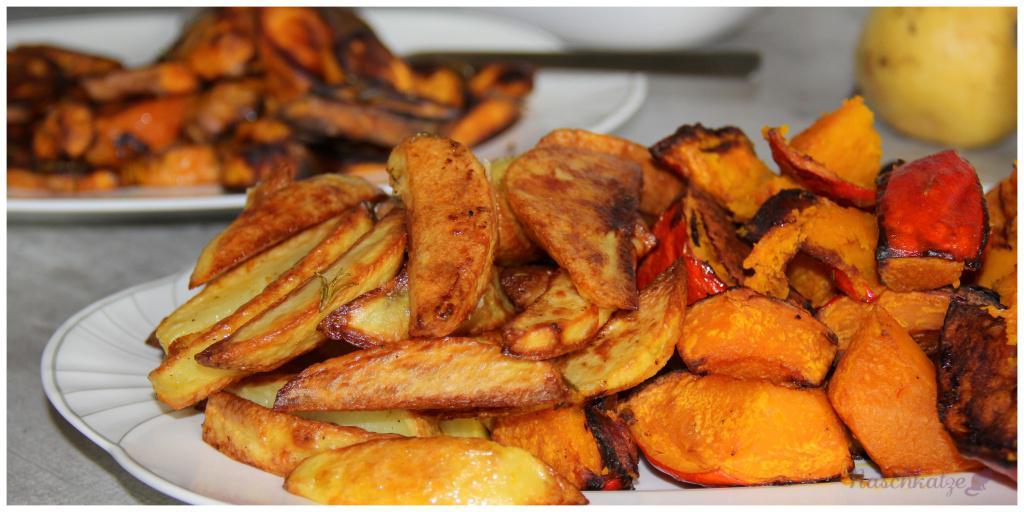 Kürbis, Süßkartoffel & Kartoffel aus dem Ofen1 (1)